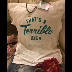 Adorable Statement Tee Size M Yummy Fabric NEW